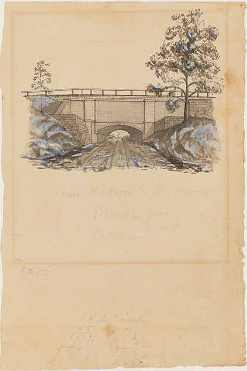 Untitled [Croton Aqueduct near Hastings-on-Hudson], 1843