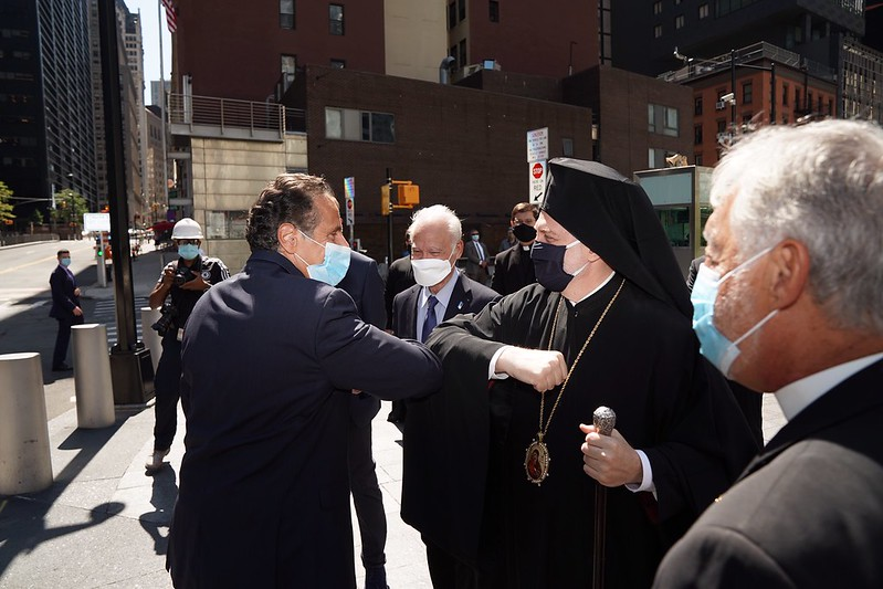 Announcement at the WTC Site in Lower Manhattan featuring NY Governor Cuomo & Archbishop Elpidophoros.