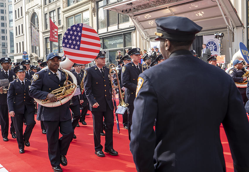 NYPD Marching Band at the 2019 Veterans Day Parade