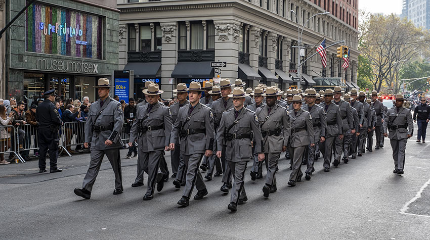 State Troopers at the 2019 Veterans Day Parade