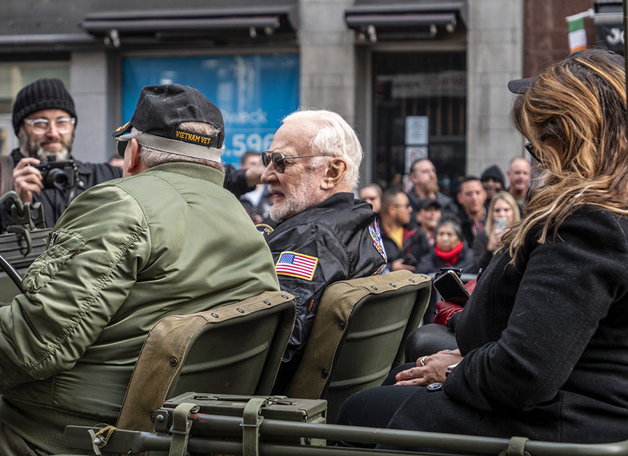 Famed American Astronaut Buzz Aldrin at the 2019 Veterans Day Parade