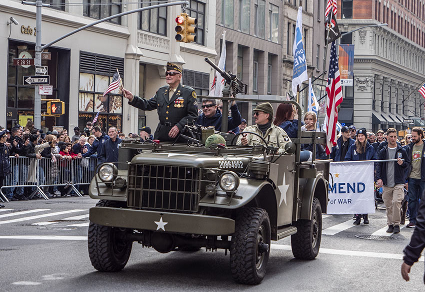 Veteran on a Jeep at the 2019 Veterans Day Parade