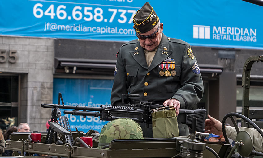 One of America's surviving Vets at the 2019 Veterans Day Parade