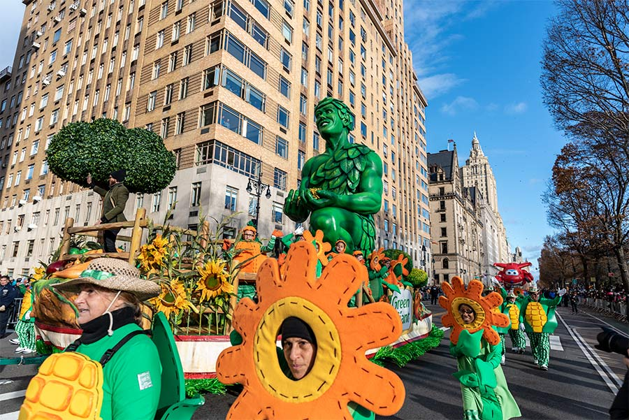 The Jolly Green Giant at the 2019 Macy's Thanksgiving Day Parade