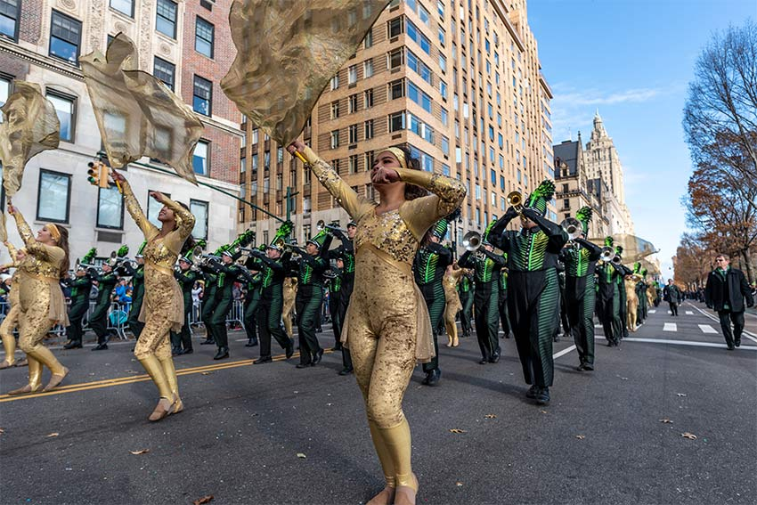 Marching Band at the 2019 Macy's Thanksgiving Day Parade