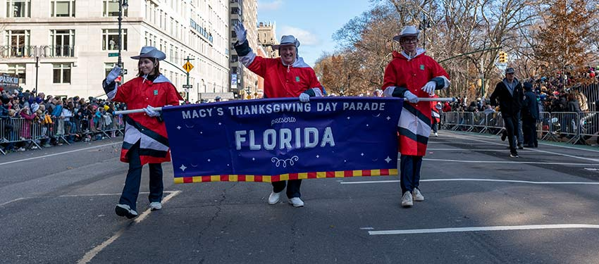 Leading the way for celebrity, Florida, at the 2019 Macy's Thanksgiving Day Parade