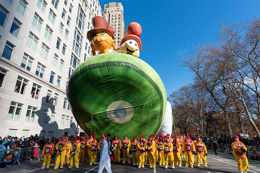 Green Eggs and Ham Balloon at the 2019 Macy's Thanksgiving Day Parade