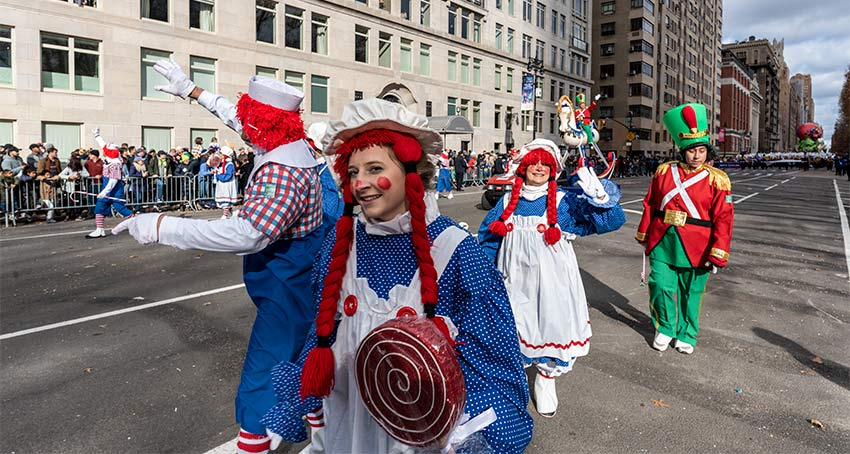 Fun clowns at the 2019 Macy's Thanksgiving Day Parade