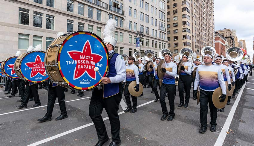 Macy's Marching Band at the 2019 Macy's Thanksgiving Day Parade