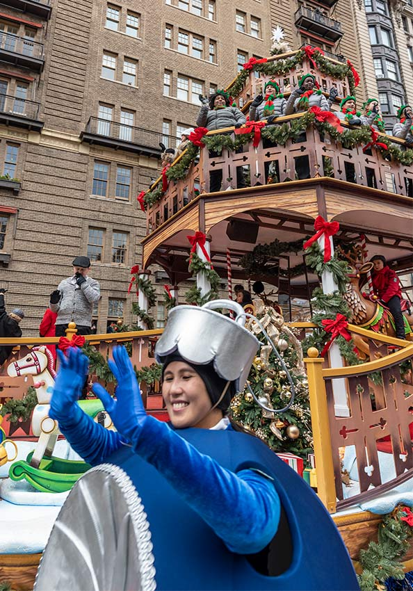 One of the many wonderful floats at the 2019 Macy's Thanksgiving Day Parade