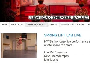 New York Theatre Ballet presents LIFT Lab Live at St. Marks's Church-in-the-Bowery @ St. Mark's Church